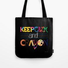 Keep Calm and Crayon Tote Bag