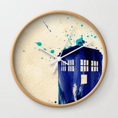 Doctor Who TARDIS Rustic Wall Clock