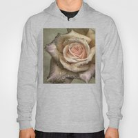 Vintage rose with water drops Hoody