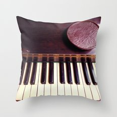 Ivory and wood Throw Pillow