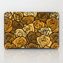 Romantic Yellow roses with black outline iPad Case