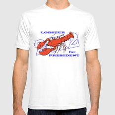 Lobster for President SMALL White Mens Fitted Tee