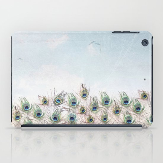 Fly Over A Peacock Field iPad Case
