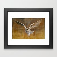 Barn Owl in Flight Framed Art Print