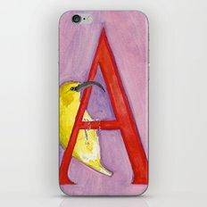 A for 'Akiapola'au iPhone & iPod Skin