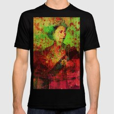 Queen Lisa Black SMALL Mens Fitted Tee