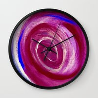 Deep Red Cyclone Wall Clock