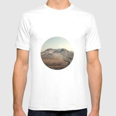 Mt. St. Helens White SMALL Mens Fitted Tee