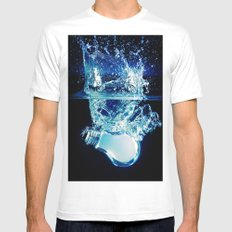 Ideas White SMALL Mens Fitted Tee