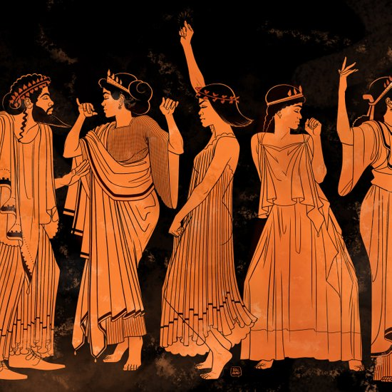 Club Life in Ancient Greece Art Print