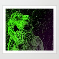 Flashy T-Rex  Art Print