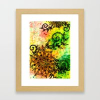 Henna Fantasia Framed Art Print