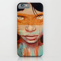 orange iPhone & iPod Cases featuring Pele by Michael Shapcott