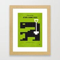 No582 My ATARI GAME OVER… Framed Art Print