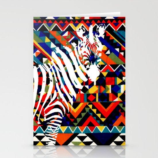 Tribal Zebra Stationery Card