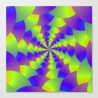 Yellow and Purple Spiral Canvas Print