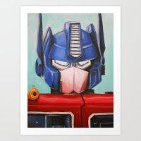 Optimus Prime Art Print