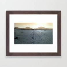 Well I stand up next to a mountain, and I chop it down with the edge of my paw Framed Art Print