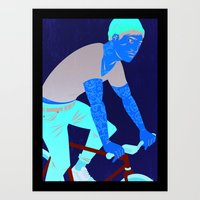 Bicycles & Tattoos Art Print