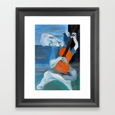 Picasso's Blue Mn with Guitar  Framed Art Print