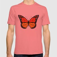 Monarch butterfly Mens Fitted Tee Pomegranate SMALL