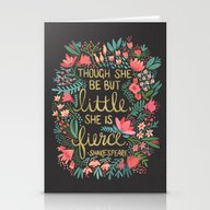 Little & Fierce On Charc… Stationery Cards