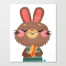 Hot Dog Bunny Canvas Print