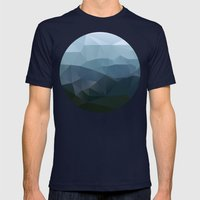 True At First Light Mens Fitted Tee Navy SMALL