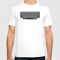 Captain's Keyboard Mens Fitted Tee White SMALL