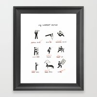 My Workout Routine Framed Art Print