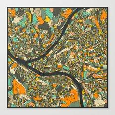 PITTSBURGH MAP Canvas Print
