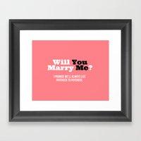 Marry Me Framed Art Print
