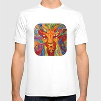 Lion's Visions Mens Fitted Tee White SMALL