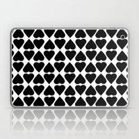 Diamond Hearts Repeat Bl… Laptop & iPad Skin