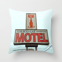 The Calico Cat Throw Pillow
