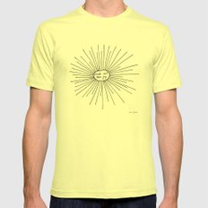 seek out the joy Mens Fitted Tee Lemon SMALL