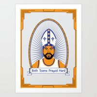 Both Teams Prayed Hard Art Print