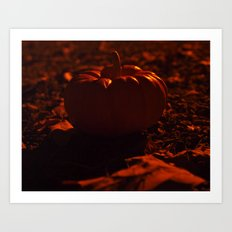 Pumpkin solitude Art Print