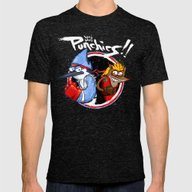 Let's Play PUNCHIES!! Mens Fitted Tee Tri-Black SMALL
