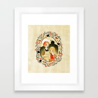Sweet Porridge: Mother and Daughter Framed Art Print