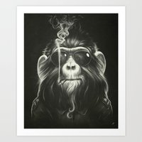 home Art Prints featuring Smoke 'Em If You Got 'Em by Dr. Lukas Brezak
