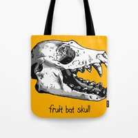 Fruit Bat Skull Tote Bag