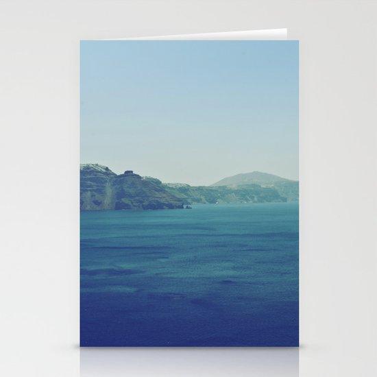 Greek Island Blues Stationery Card
