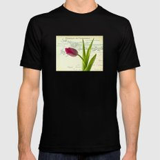 Tulip Black SMALL Mens Fitted Tee