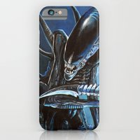 alien iPhone & iPod Cases featuring Alien by Tom C Carlton