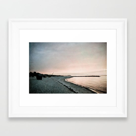 evening mood Framed Art Print