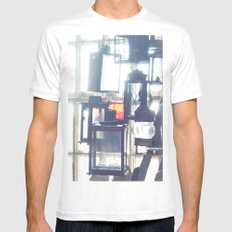 Light SMALL White Mens Fitted Tee