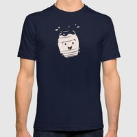 Horchata Mens Fitted Tee Navy SMALL