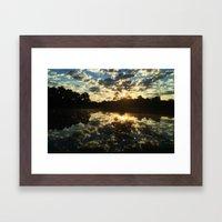 One Pond Pause Framed Art Print
