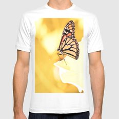 Monarch White Mens Fitted Tee SMALL